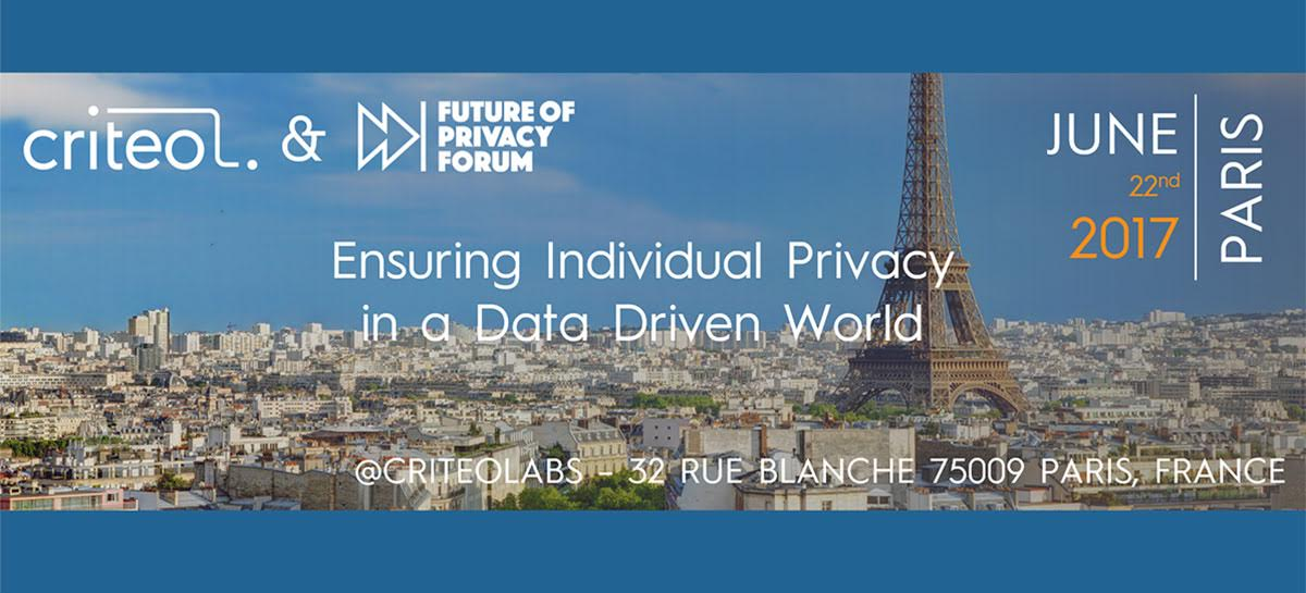 June 22nd Event: Ensuring Individual Privacy in a Data Driven World