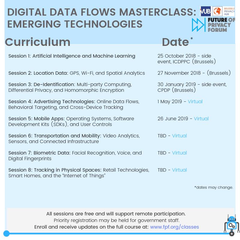Digital Data Flows Masterclass: Emerging Technologies