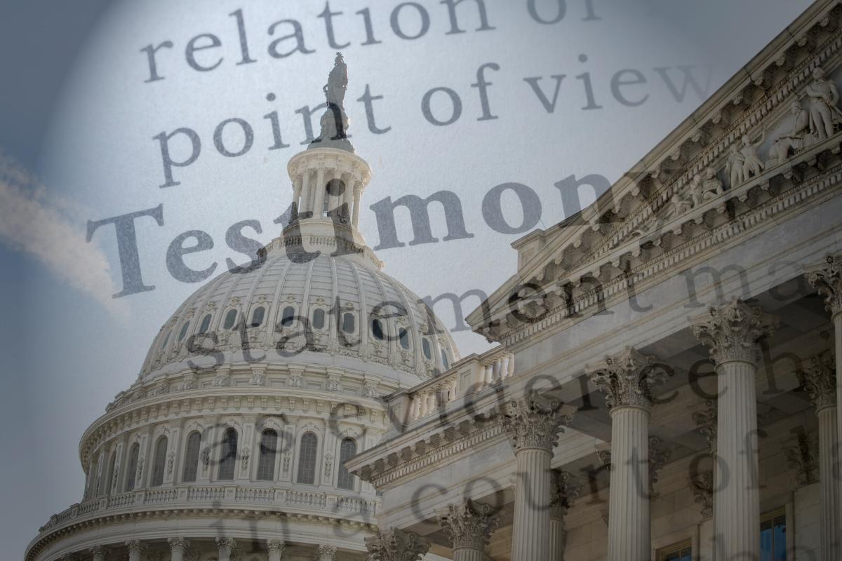 Congressional Testimony
