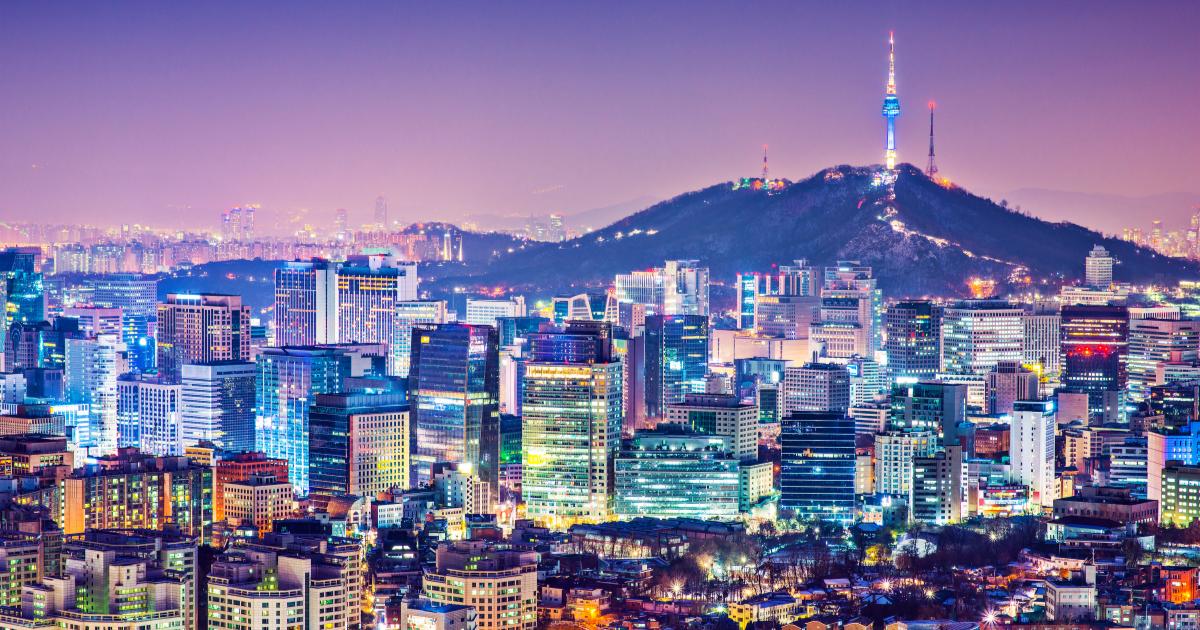 image of seoul, south korea at night