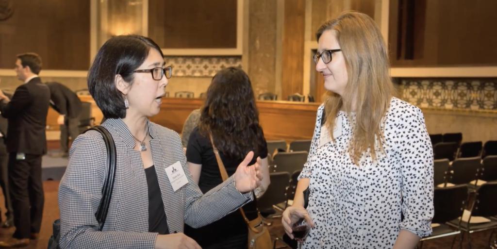 Women Talking at RCN Meeting