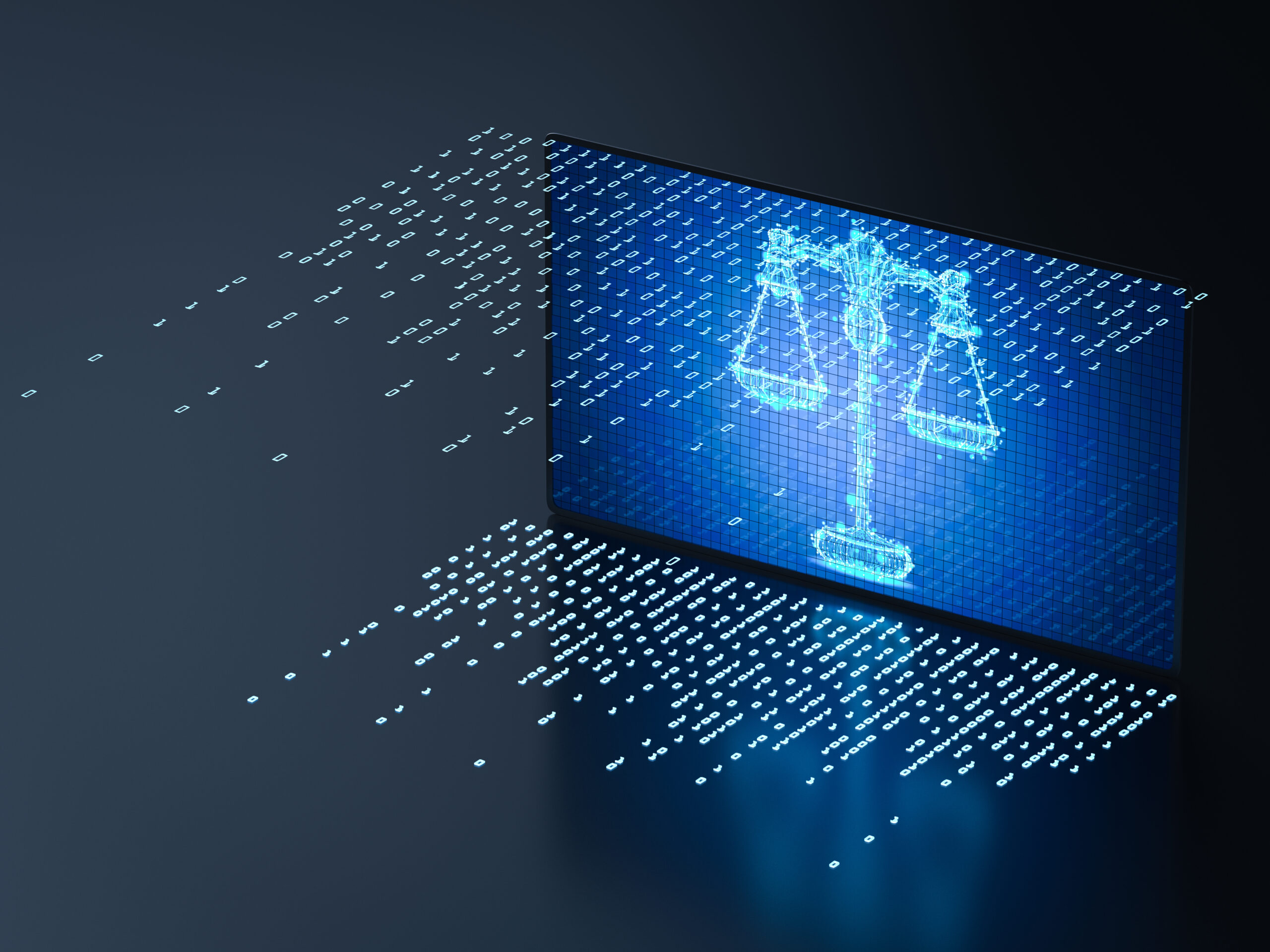 cyber,law,concept,with,3d,rendering,digital,screen,display,scale